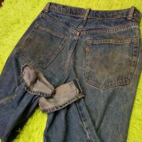Vintage 80's Levi's 505 0217 Black Bar Side Denim