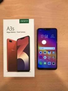 Oppo A3s Fullset accessories untuk dijual
