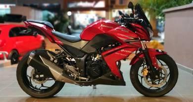 Kawasaki Z250 Candy Red 2014 Aeon Credit 250r
