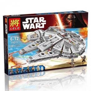 Brick Star Wars Lele 79211 Millenium Falcon