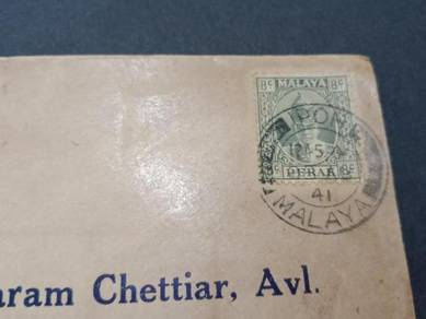 Cover CENSOR Ipoh WWII 1941 No 2976