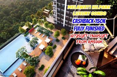 Melawati Ampang 0 Downpayment CASHBACK 150K Fully Furnished HillPark