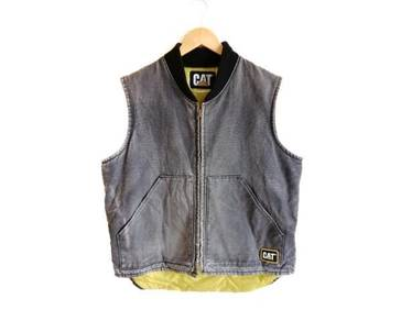 Vintage Caterpillar Denim Vest Jacket