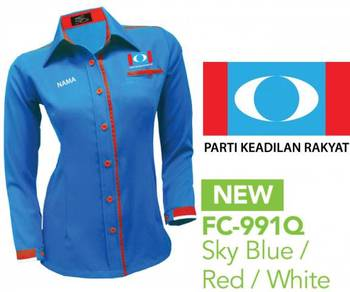 Baju Kemeja Korporat Parti Keadilan Rakyat PKR V4F