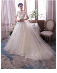 Cream fishtail wedding bridal dress gown RB0869