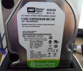 WD 2TB/2000GB 3.5 inch SATA Hard Drive