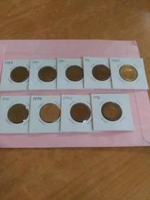 1989-1996 RM1 coin set