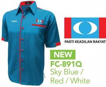 Baju Korporat F1 Parti Keadilan Rakyat PKR V4M