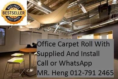 Classic Plain Design Carpet Roll with Install 80PQ