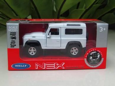 Welly (11cm) Land Rover Defender White