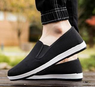 FA0268 Black Loafers Casual Slip On Murah Shoes