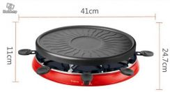 Electric barbecue pan meat machine