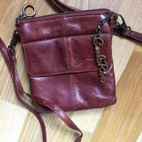 Carlo Rino Leather Sling Bag