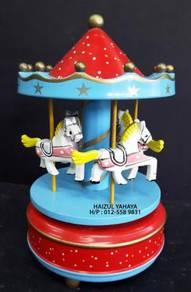 Carnival Carousel Horse Merry Go Round Music Box 2