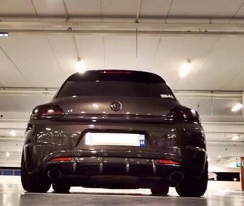 Volkswagen vw scirocco R carbon rear diffuser