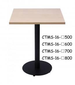 Melamine Cafe Table Square Top & P.Coat Round Leg