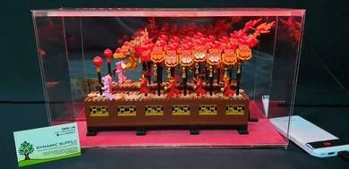 Display Case LEGO 80102 Dragon Dance come with Led