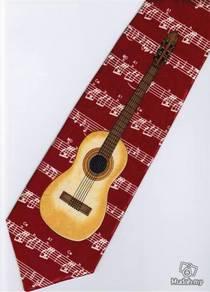 Classic Guitar Musical Instrument Cartoon Neck Tie