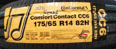 Tayar baru continental Cc6 175 65 14 Tyre New 2020