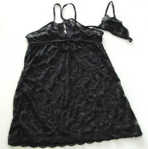 L457 Sexy Black Lingerie Sleepwear 2pcs set