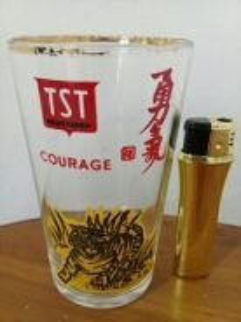 EEQ antik gelas tst courage tiger glass