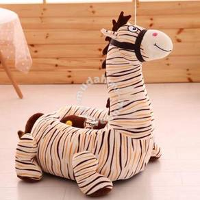Brown Striped Horse Sofa for Kids (SF 1011)