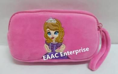 Cute Cartoon Princess Sofia 2Plush Pencil Box Cas