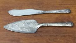 Vintage silver plated cake spoon 2