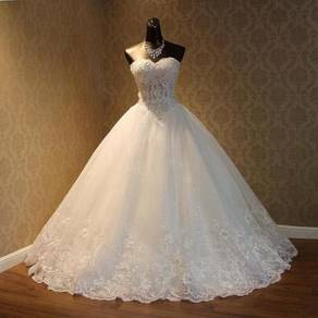 White wedding gown dress bridal prom dinner RB0068