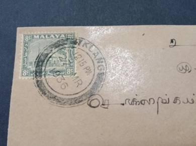 Antik Cover KLANG Pudukottah 1936 No 2979
