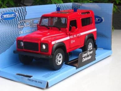 Welly(11cm) Land Rover Defender( VIGILI DEL FUOCO)