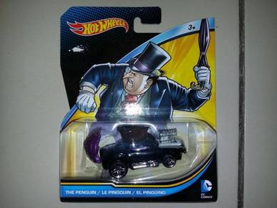 Hotwheel Batman Character Car Penguin Diecast