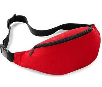 RAX Sports Pouch Travel Waist Jogging Bag (Red)