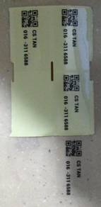 50x30mm Name Label Transparent Sticker Printing