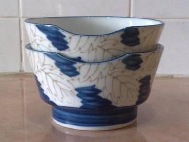 Mangkuk oriental blue white bowl 2