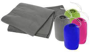 Travelling Accessories Fleece Blanket with Pouch