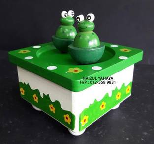 Frog Wooden Music Box (New Old Stock)