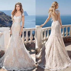 White lace wedding gown dress bridal prom RB0073