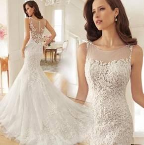 White wedding gown dress bridal prom dinner RB0077