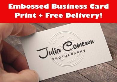 Letterpress Embossed business card