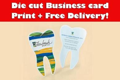 Die cut business card with free delivery