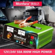 12V 24V 50A 800W Powerful Fast Car Battery Charger