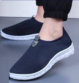 FA0266 Dark Blue Loafer Slip On Kasut Murah Shoes