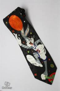 Bugs Bunny Looney Tunes Space Jam Cartoon Neck Tie