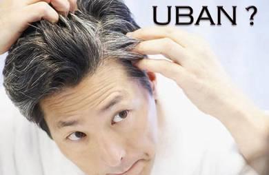Masalah Rambut Uban - Cara Hitamkan Rambut Beruban