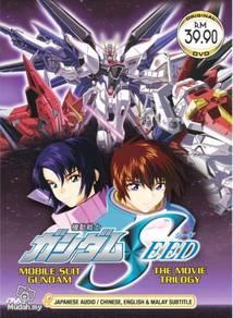 DVD ANIME MOBILE SUIT GUNDAM SEED Movie Trilogy