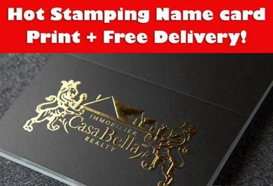 Hot stamping business card with free delivery