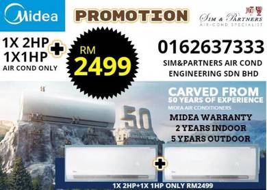 Air cond midea *Promotion 1hp 1.5hp 2hp *699