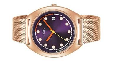 ALBA Ladies Analog Mesh Strap Watch VJ32-X304PURG