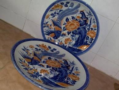 Pinggan antik antique large oriental platter 2